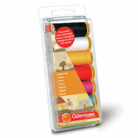 Gutermann Thread Set Cotton No.50 7 x 100m Assorted