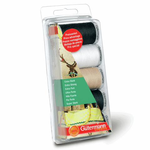 Gutermann Thread Set Extra Strong 5 x 100m Assorted