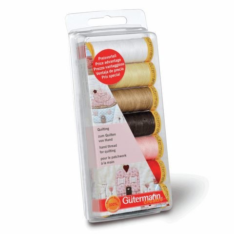 Gutermann Thread Set Hand Quilting 7 x 80m Assorted
