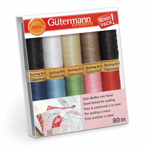 Gutermann Thread Set Quilting 10 x 80m Assorted