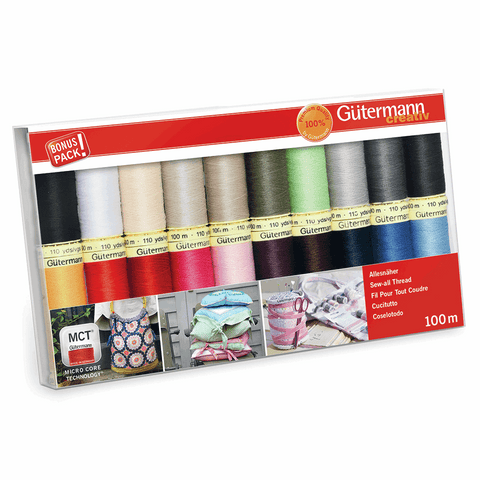 Gutermann Thread Set Sew-All 100m Pack of 20