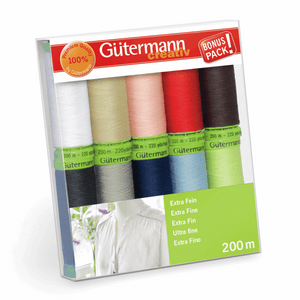 Gutermann Thread Set Sew-All Extra Fine 200 10 x 200m Assorted
