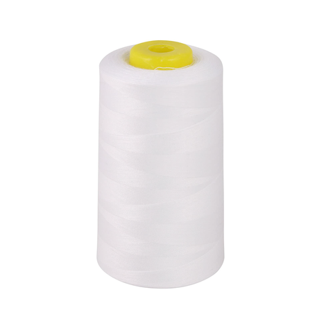 Overlocker Thread Cone 5000m Extra Large - White - Designed for Overlockers