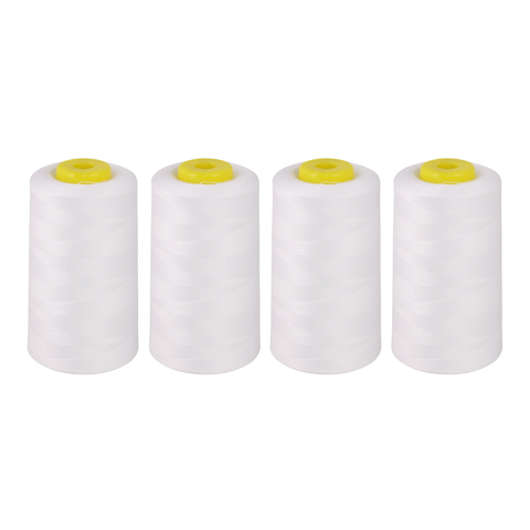 Pack of 4 x Overlocker Thread Cone 5000m Extra Large - White - Designed for Overlockers