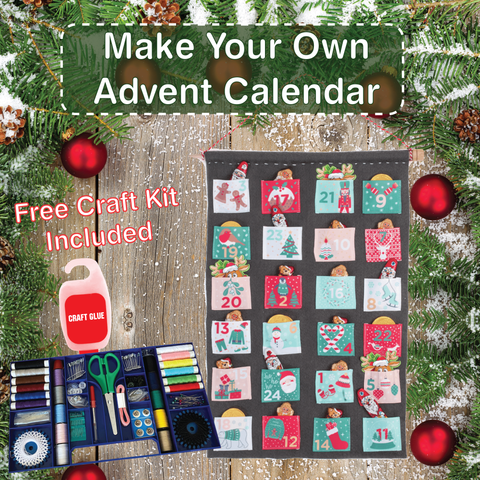 Deluxe 145 piece Deluxe Sewing and Craft Kit plus Make Your Own Advent Calendar Kit