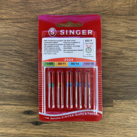 10 x Singer Needles (2020) Universal Assorted Needles 70, 80, 90, 100