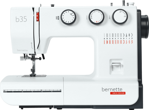 bernette b35 Sewing Machine - 3 dial controls, drop feed for free motion embroidery, auto threader