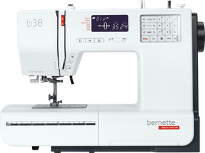 bernette by BERNINA b38 Computerised - Auto thread cut, Auto tension, 394 stitch patterns with Extension Table and Hard Cover - Please allow 3 to 5 working days for delivery