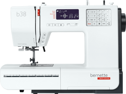 bernette by BERNINA b38 Computerised - Quilt Edition with Quilting Kit - Auto thread cut, Auto tension, 394 stitch patterns with Extension Table and Hard Cover