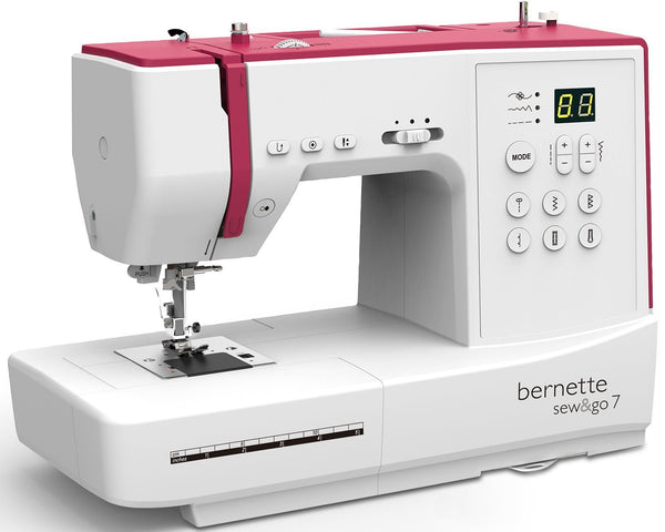 bernette Sew and Go 7 - Heavy Duty Singer Outlet Exclusive Special Buy * + Free Extension Table - Auto threader, Start/Stop with Speed Control SEWGO7