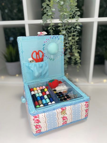 Luxury Craft Storage with Deluxe Craft Sewing Kit - Blue