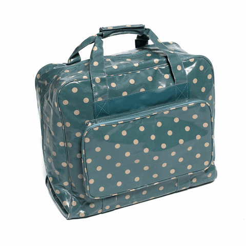 Deluxe Blue Spot Sewing Machine Bag