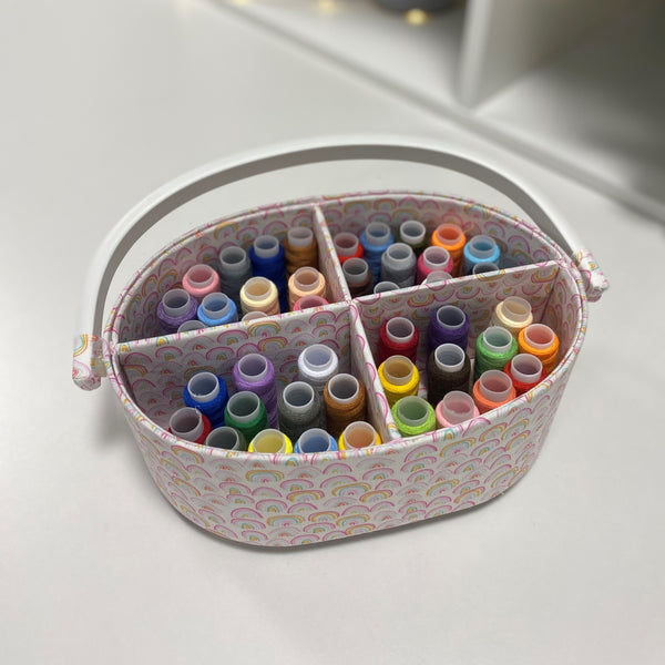 Rainbow Storage Caddy with 24 piece thread set * New year offer - Very limited stock *