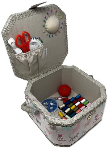 *Special Offer* Octagon Sewing Box with Deluxe Craft Kit