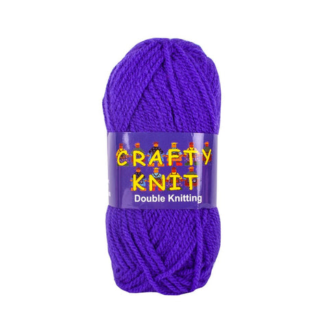Essential Knitting Yarn - Purple (Shade 401)