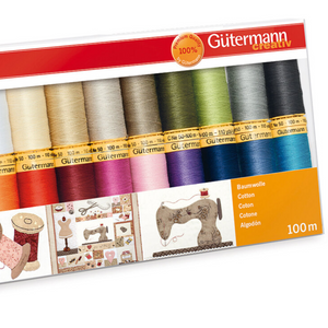Gutermann Thread Set Natural Cotton 100m Pack of 20