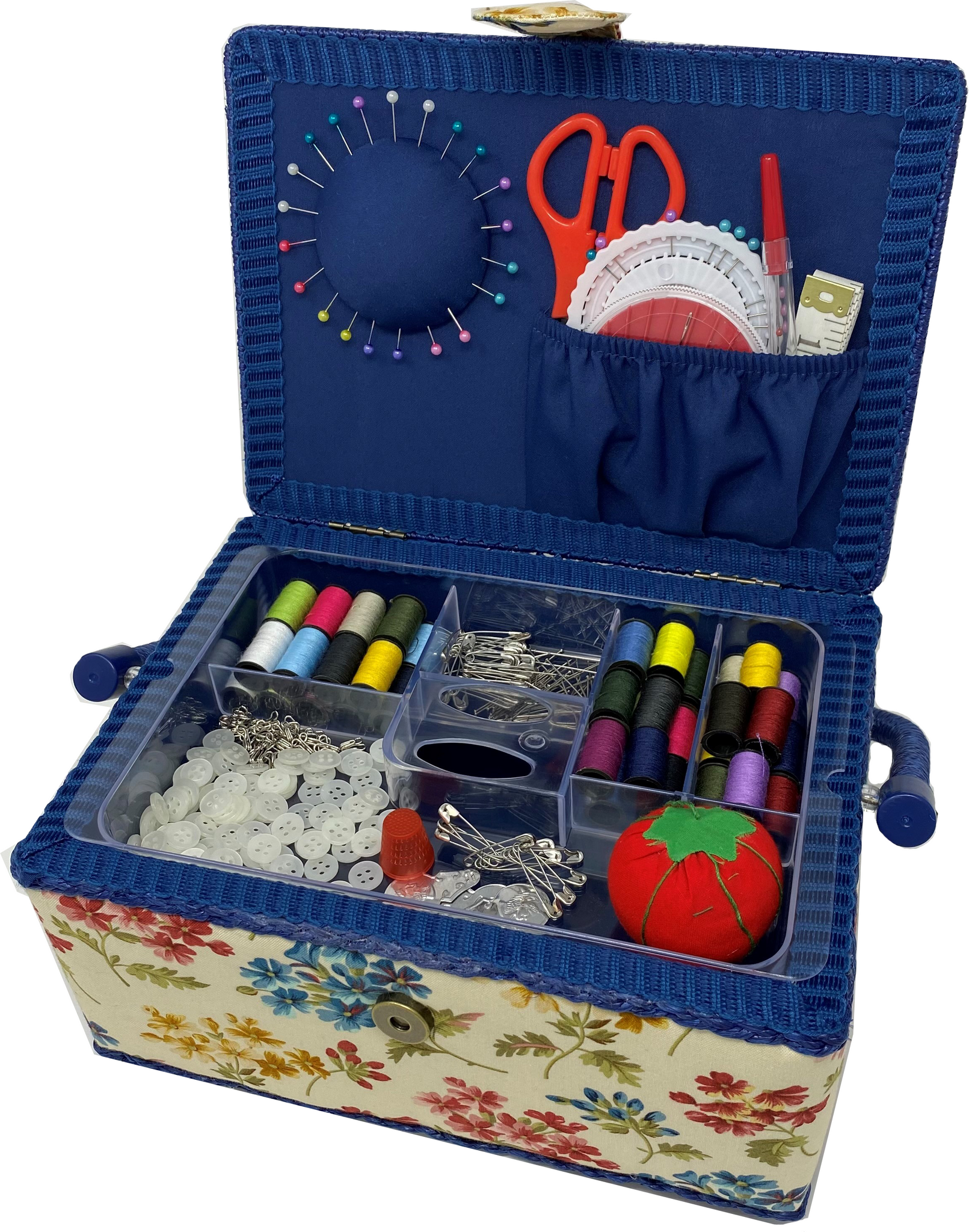 Luxury Craft Storage with Deluxe Craft Sewing Kit - Fairfield Blue