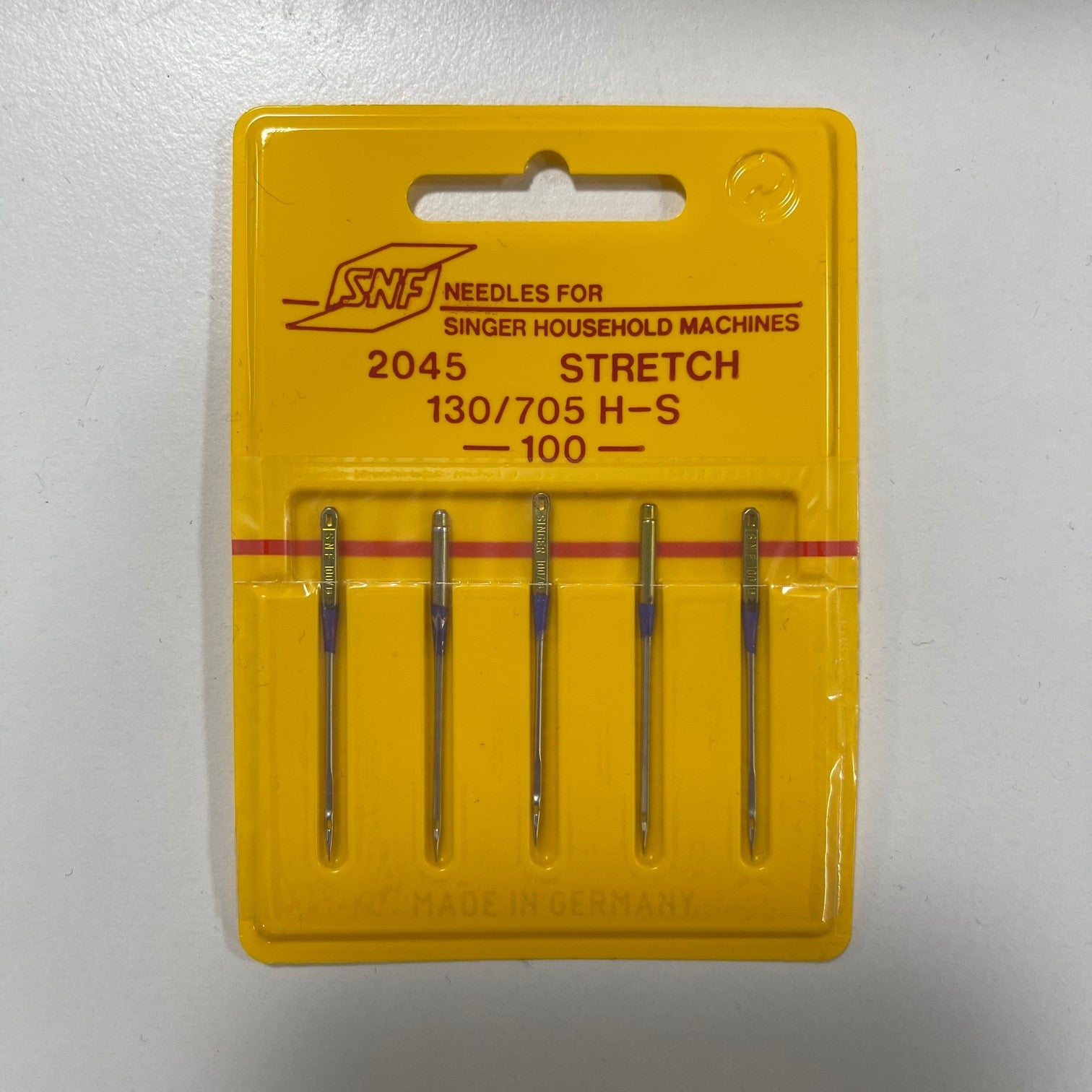 5 x Stretch 2045 100 weight needles for Singer machines (made in Germany)
