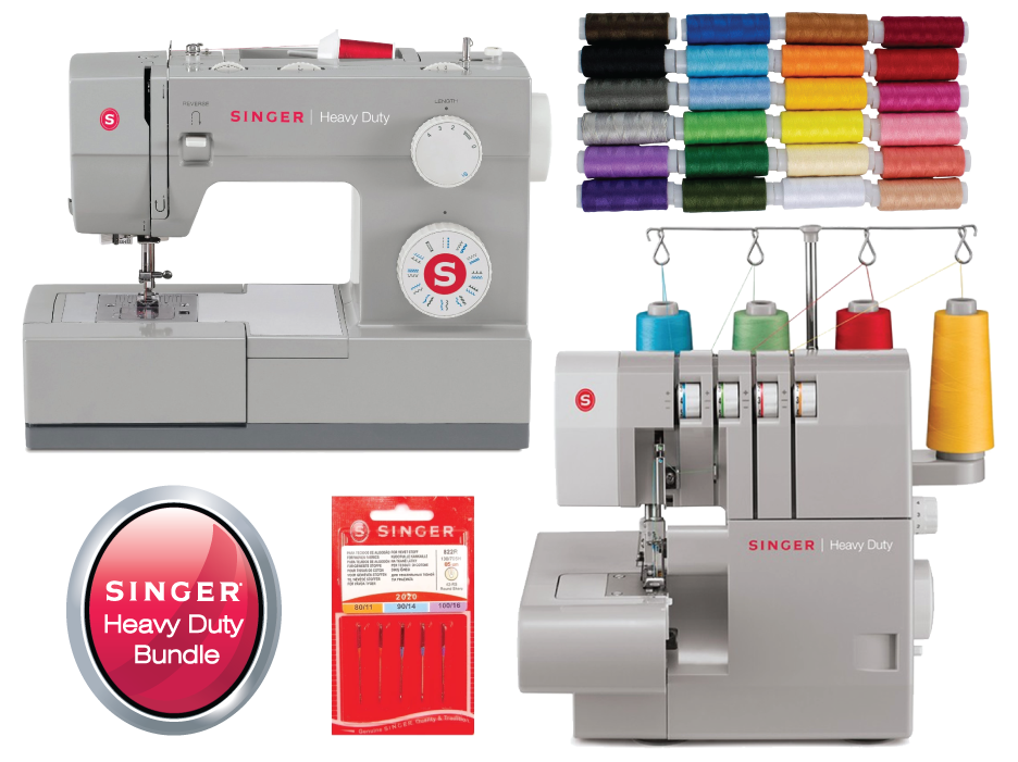 Singer Heavy Duty Bundle - (Preorder for March delivery) 4423 Sewing Machine + 14HD854 Overlocker + 24 x Threads + extra Needle Pack