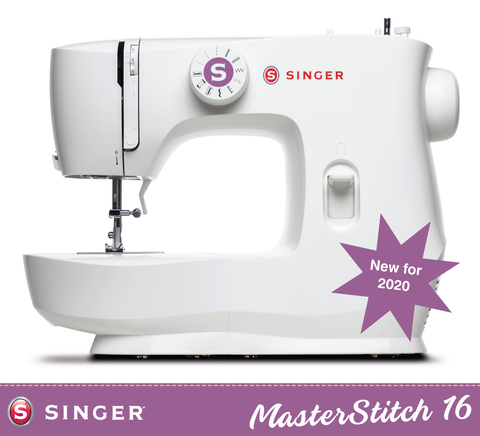 Singer MasterStitch 16-05 Sewing Machine - recommended Beginner machine * Simple to use, lightweight and strong - Latest M series 2020 model, Sew Silk to Denim - Ex Display (B grade - may show signs of use or cosmetic marks)