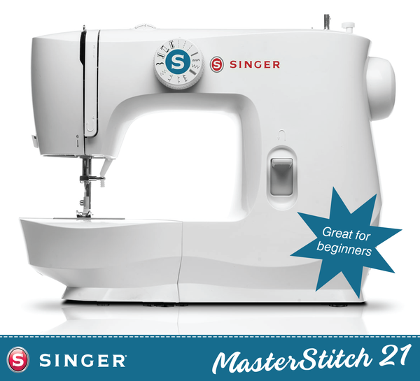 Singer MasterStitch 21 Sewing Machine - Simple to use, lightweight but strong, Sew Silk to Denim. Includes Online video class - Preorder for January Delivery