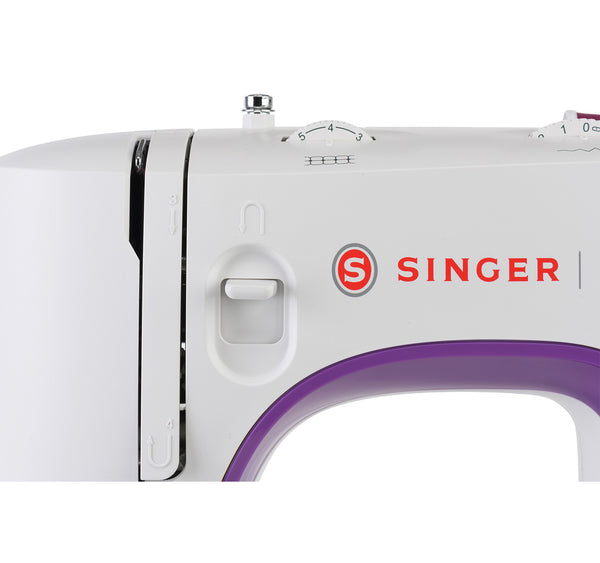 Singer Craftmaker M35 * Sewing bee special buy * - 32 stitch patterns with 1 step buttonhole and auto threader, heavy duty metal frame, overlocking and stretch stitches - Easy to use, strong machine - sews silk to leather