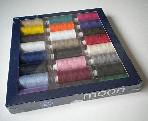 Coats Moon Thread - 24 x Extra large 1000y reels - Ideal for Sewing, Overlocking and Quilting