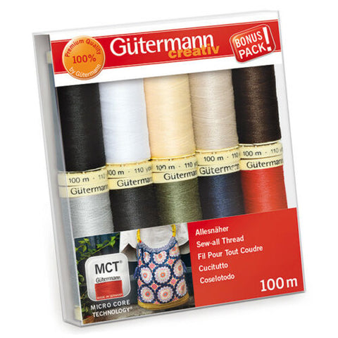 Gutermann Sew-all Thread Set - Collection 1 10 x 100m Assorted