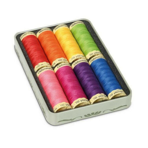 Gutermann Nostalic Box Sew-all Thread 8 x 100m with storage box