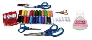 Sewing Bee Ultimate Bundle with 50+ pieces - Thread Set, Scissor set, Needle Pack, Bobbin Pack, Rose gold scissors, Thread cutter, Tailors chalk set
