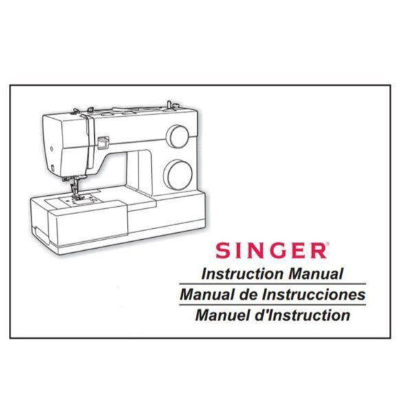 Instruction Manual for a Singer Sewing Machine (printed copy)