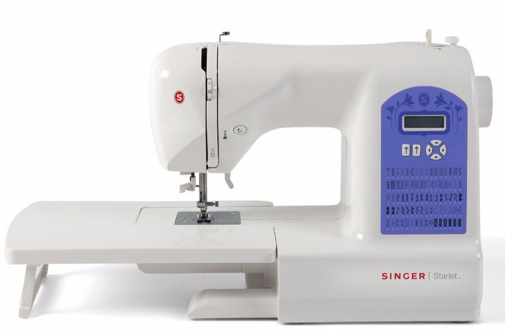 Singer Starlet 6680 with included large Extension Table - 80 stitch patterns - Sewing from Silk to Leather - Heavy duty - Sewing Bee Special Buy