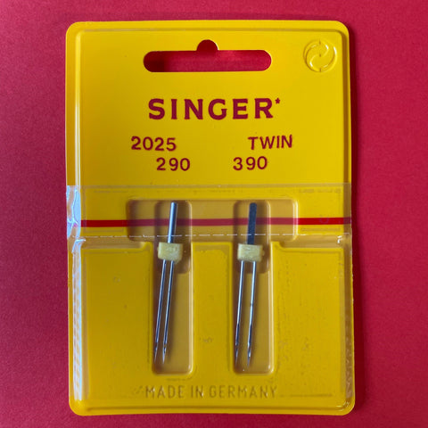 Singer Twin Needles (2 pack) Size 90 2mm and 3mm