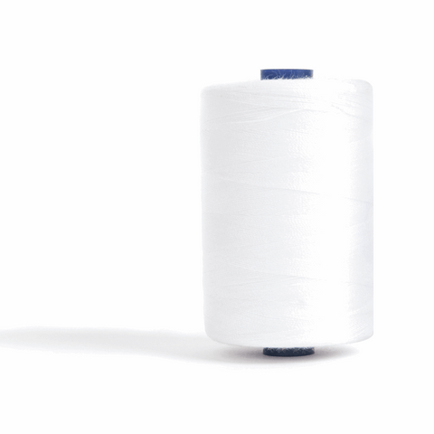 Thread 1000m Extra Large - White - for Sewing and Overlocking