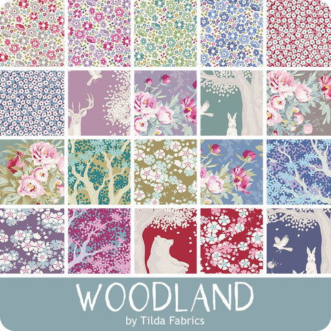Tilda - Woodland Charm Pack - 12.5cm / 5in squares - 40 Pieces (20 designs) - Assorted * Limited Edition *