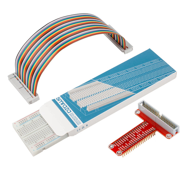 Smraza T Type GPIO Breakout board, Jumper Wires, 830 Points Breadboard for Raspberry Pi 3, 2, Model B-S11