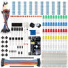 Smraza Basic Starter Kit with Breadboard, Power Supply, Jumper Wires, Resistors, LED, Compatible with Arduino R3, Mega2560, Nano, Raspberry Pi-S15