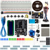 Smraza Basic Starter Kit for Arduino R3 Project with Tutorial, LCD Module, Jumper Wires, Breadboard, Servo Motor, Compatible with MEGA2560 Nano (21 Lessons)-S17