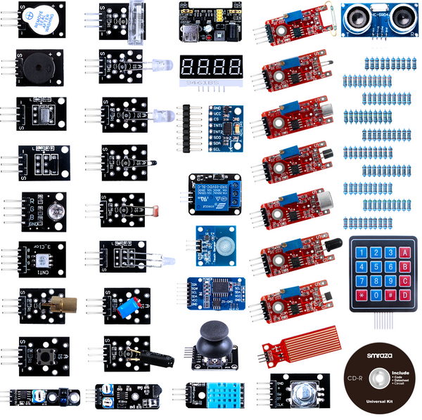 Smraza 37 in 1 Sensor Modules Kit with Tutorial Compatible with Arduino R3 MEGA2560 Nano-S45