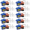Smraza 10 Pcs SG90 9G Micro Servo Motor Kit for RC Robot Arm Helicopter Airplane Car Boat Control, Arduino Project-S51