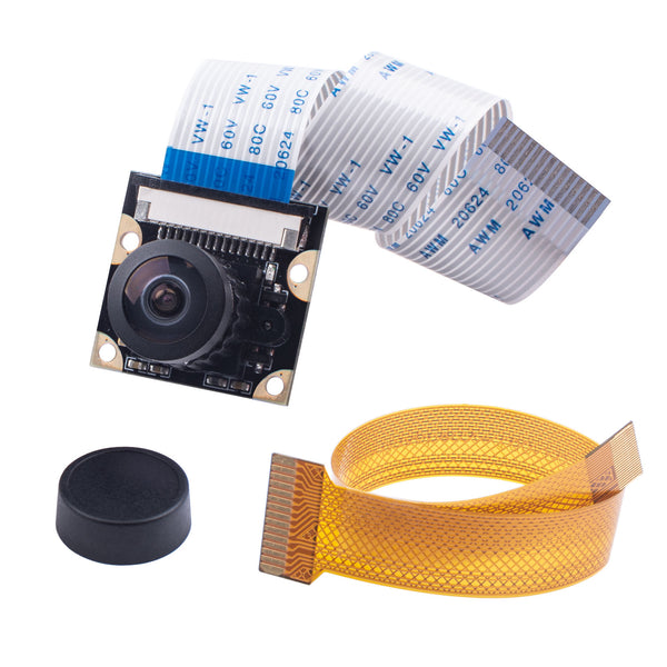 Smraza Raspberry Pi 4 Camera Module 5 Megapixels 1080p OV5647 Sensor Adjustable Focus Wide Angle Fish-Eye Camera Lenses Webcam Video for Raspberry Pi 4 Model B/Pi 3 B+, 3 B, 2 B, Zero-SM39