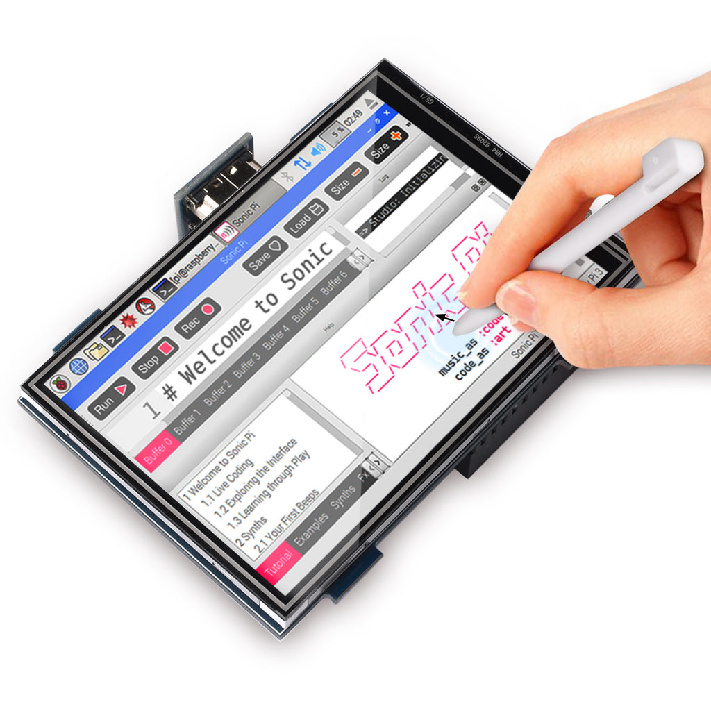 For Raspberry Pi 4 Touch Screen with Case 480x320 Monitor TFT LCD Game Display 4 inch Touch Screen with mini fan