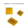 Raspberry Pi 4 Heat Sink 3pcs Aluminum Heatsink Radiator Cooling Kit Cooler