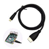 Micro HDMI to HDMI Cable  Plated HDMI Adapter Cord for Tablet HDTV and Raspberry Pi 4  HDMI  HD cable