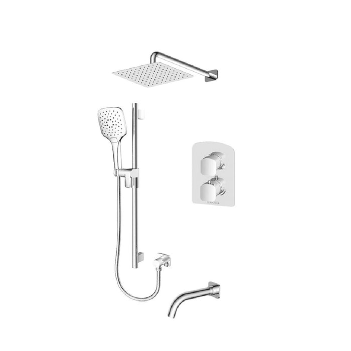 Ensemble de douche T-box 3 fonctions Delano Chrome