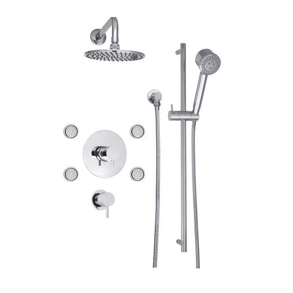 Ensemble douche thermostatique ¾ 3 voies Collection UTOPIA B10