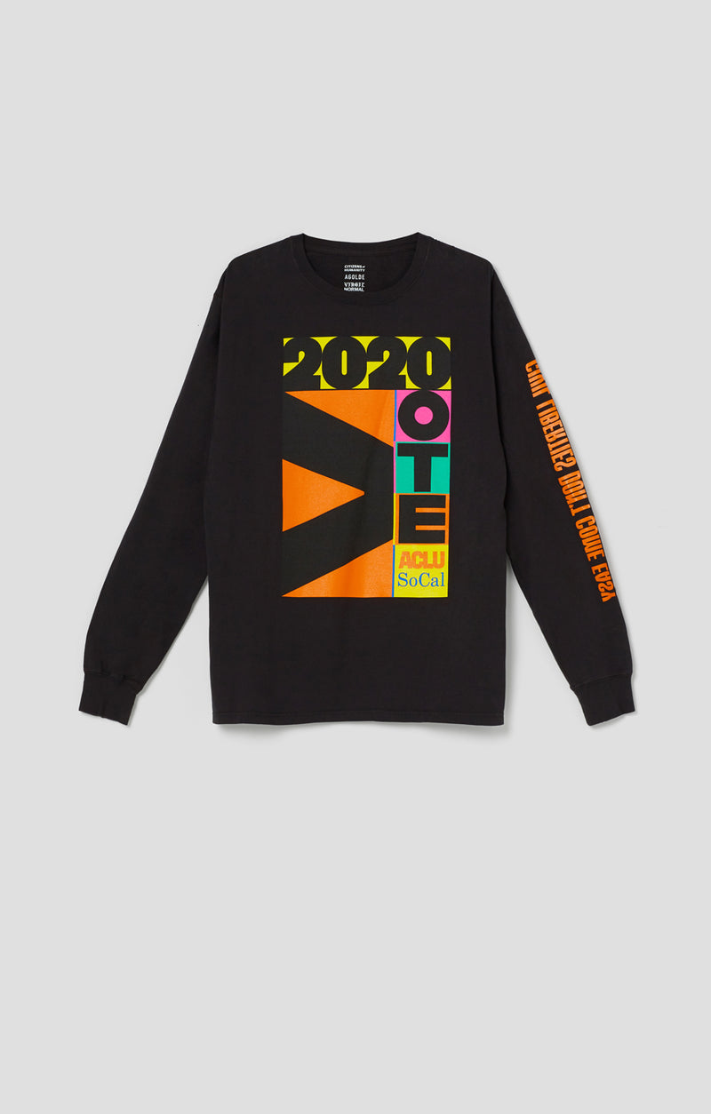ACLU SoCal x Virgil Normal Long Sleeve Tee Black front