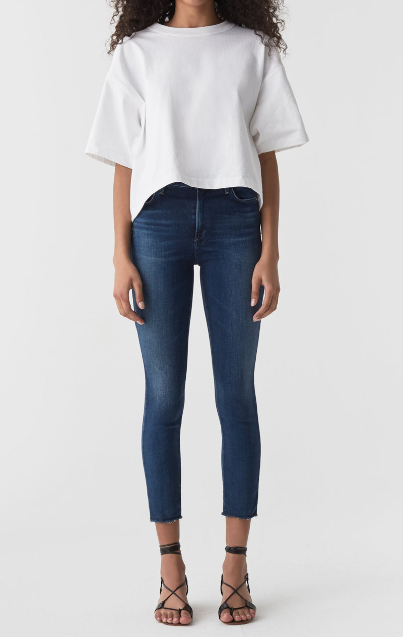Sophie Mid Rise Skinny Crop Claremont front
