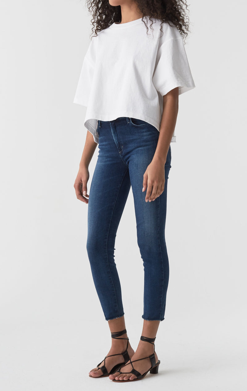 Sophie Mid Rise Skinny Crop Claremont side