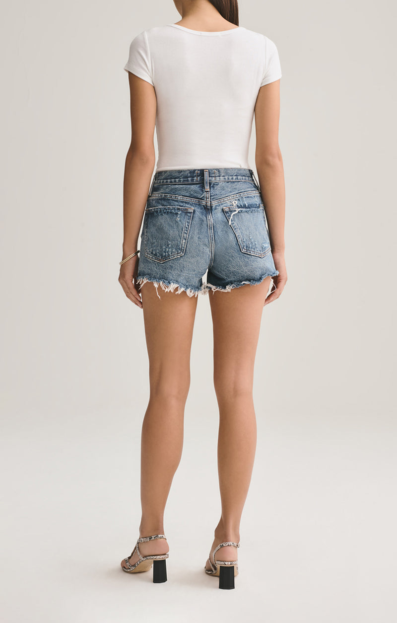 parker vintage cut off short rocksteady back